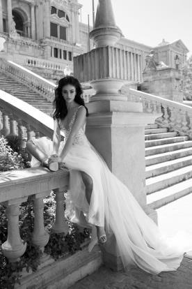 עיצוב רך ורומנטי לשמלת כלה