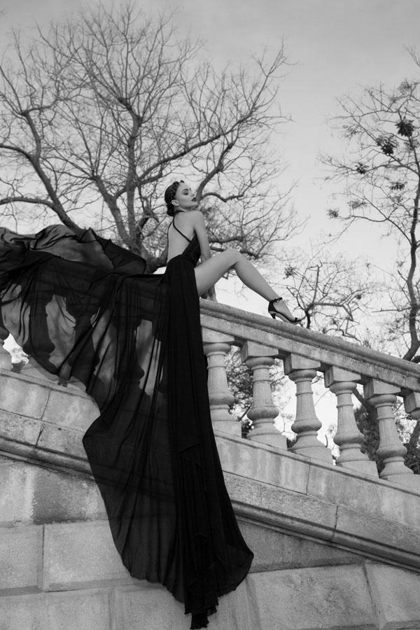 שמלת ערב מרשימה משיפון