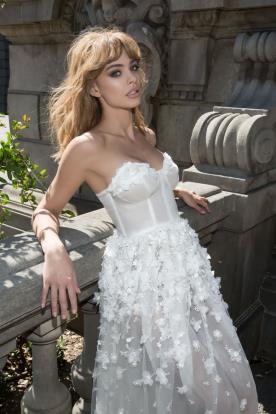 שמלה רומנטית מודרנית לכלה