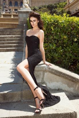 שמלת ערב סטרפלס קלאסית