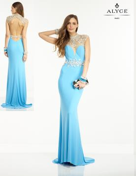 שמלת ערב תכלת מקסי