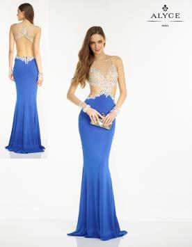 שמלת ערב חתכים בצדדים