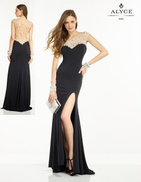 שמלת כלה שחורה עם שסע