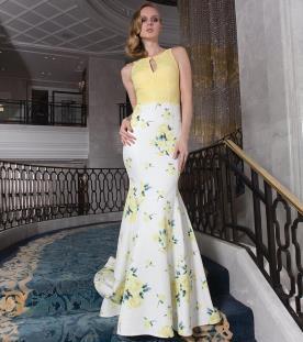 שמלת ערב טופ צהוב