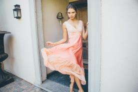 שמלת ערב פיטצ' משי