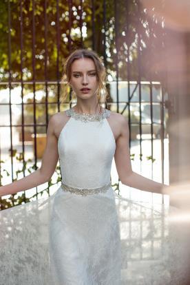 שמלת כלה קולר חרוזים