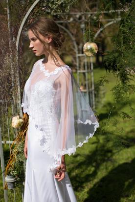 שמלת כלה עליונית אורגנזה
