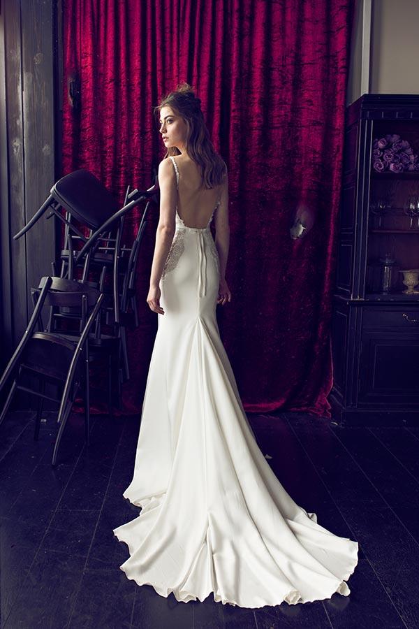 שמלת כלה צמודה אלגנטית