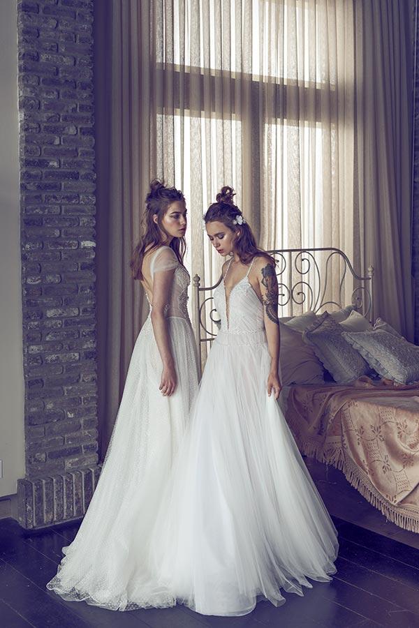 שמלת כיווצים עדינה