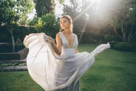 שמלת ערב חגורת מותן עבה