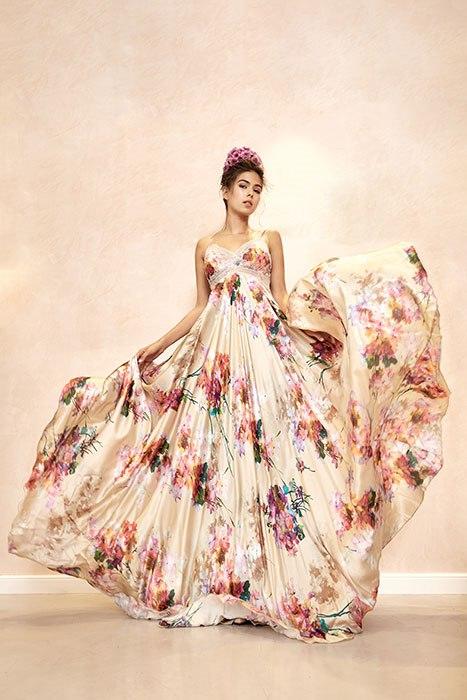 שמלה כפרית , וינטג' פרחונית