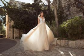 שמלת כלה רומנטית טופ תחרה