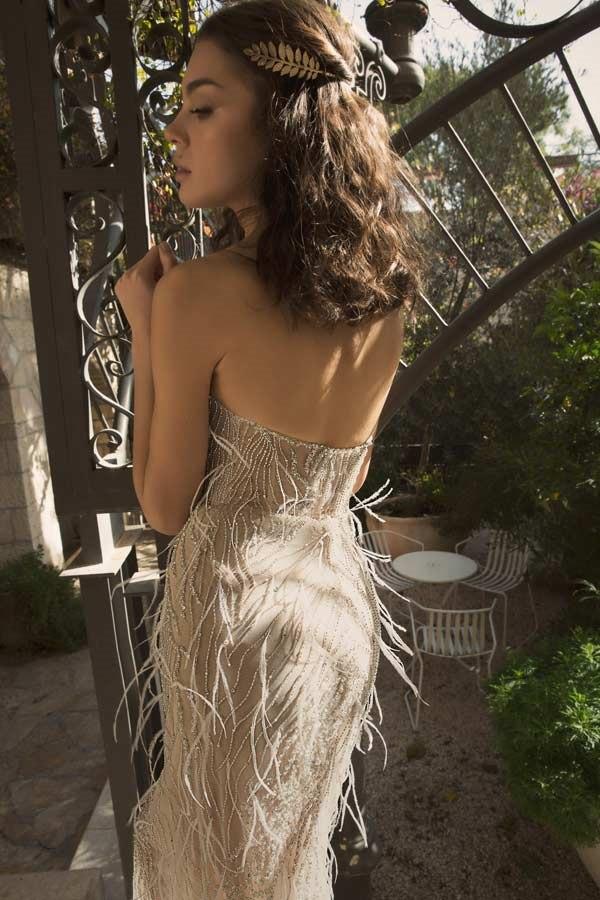 שמלת כלה עם פרנזים
