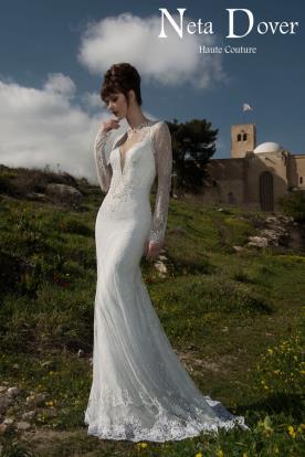שמלת כלה מקסי מתחרה