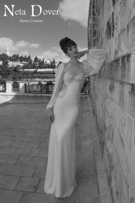 שמלת כלה בוהו שיק שרוולים רחבים