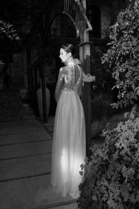 שמלת כלה טופ מטול מנוקד