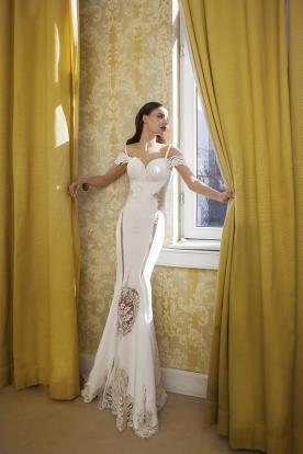 שמלת כלה בת ים בשילוב תחרה בטופ ובחצאית