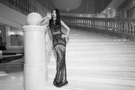 שמלת ערב צמודה ויפה בצבע שחור