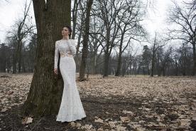 שמלת כלה צמודה בשילוב תחרה שקופה