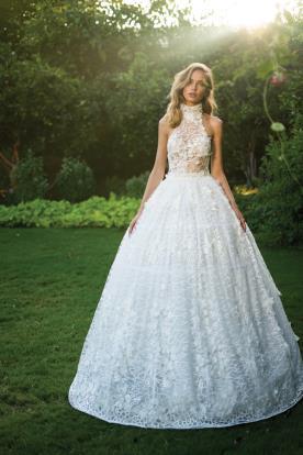 שמלת ערב מנופחת בדגם קולר
