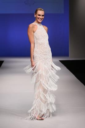 שמלת קולר עם חצאית פרנזים