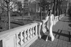 שמלת כלה עם שרוול ארוך מתחרה