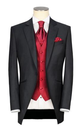 חליפת חתן עם וסט אדום
