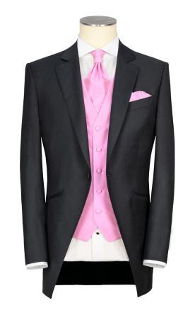 חליפת חתן בעלת וסט ורוד