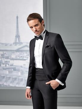 חליפת חתן עם חגורת מותן קלאסית