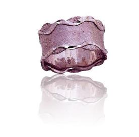 טבעת נישואין דוגמת גלים