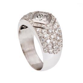 טבעת לגבר עם יהלומים