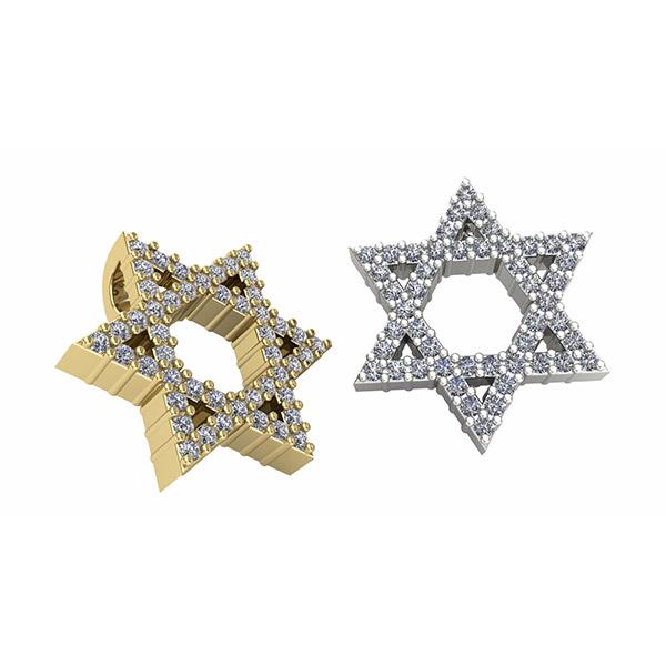 תליוני מגן דוד בשילוב יהלומים
