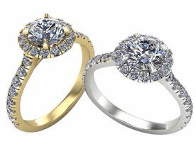 טבעות אירוסין בשיבוץ יהלומים