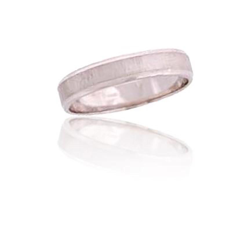 טבעת נישואין צרה עם שני פסים