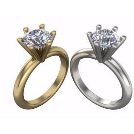 טבעת אירוסין יהלום מוגבהה