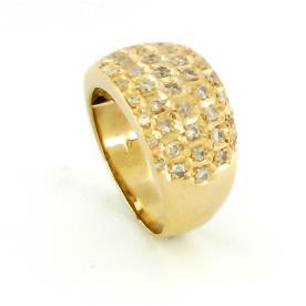 טבעת זהב צהוב בשיבוץ יהלומים לגבר