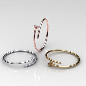 צמידי יהלומים מזהב צהוב, אדום ולבן