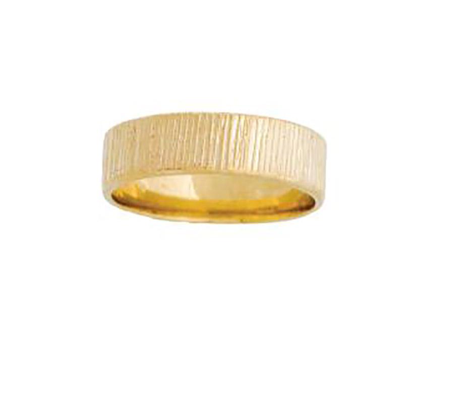 טבעת נישואין עם פסים קצרים