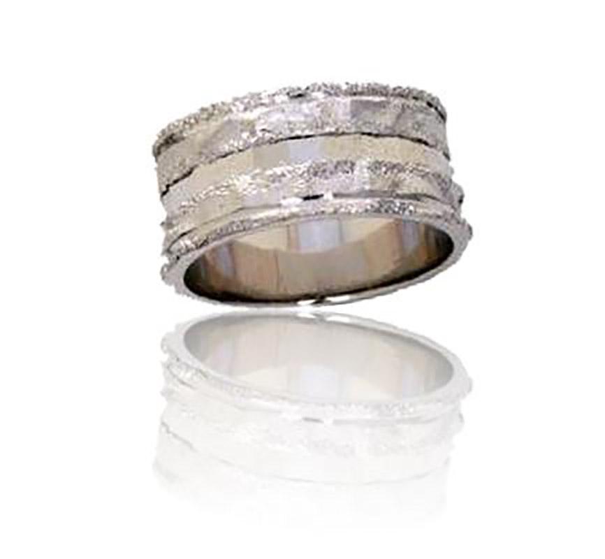 טבעת נישואין שתי שורות