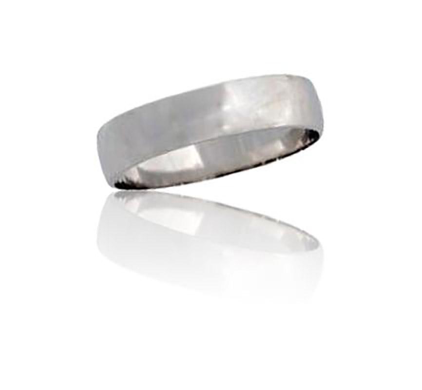 טבעת נישואין קלאסית מזהב לבן