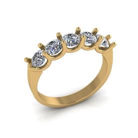 טבעת אירוסין חמישה יהלומים