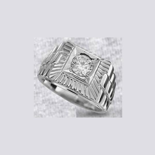 טבעת יהלום מרכזי לגבר