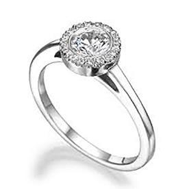 טבעת אירוסין קלאסית יהלום עגול