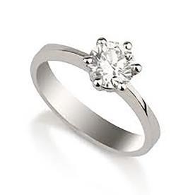 טבעת אירוסין סוליטייר