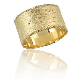 טבעת נישואין מרוקעת ונוצצת