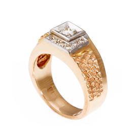 טבעת חותם יהלום לגבר