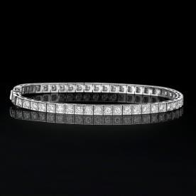 צמיד טניס יהלומים מרובעים