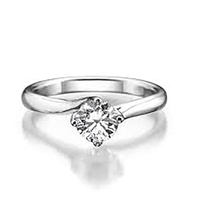 טבעת אירוסין מזהב לבן קלאסית