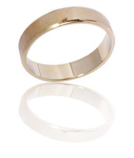 טבעת נישואין מבריקה צרה
