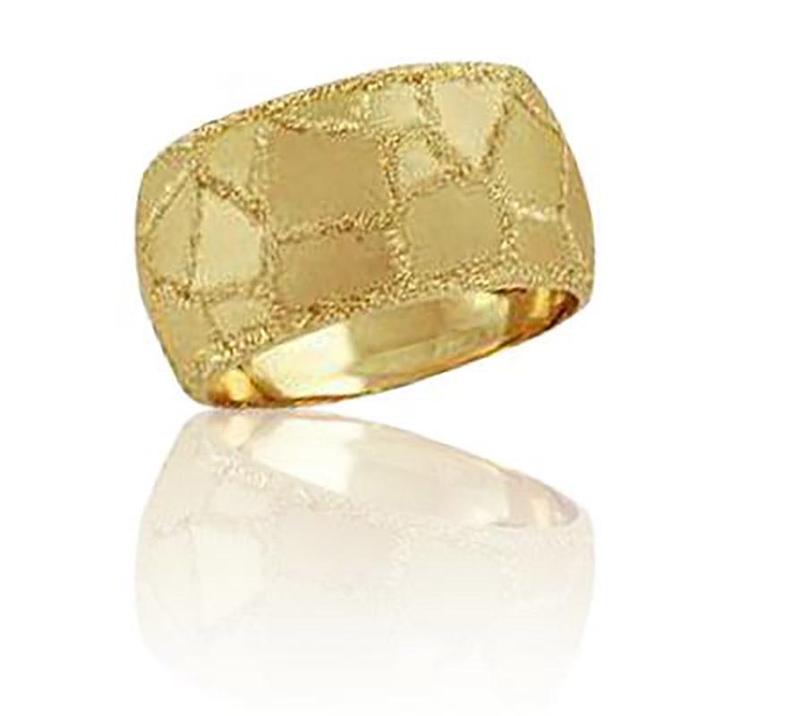 טבעת נישואין עם דוגמת שברים